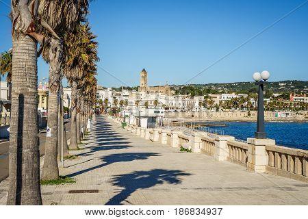 Seaside In Leuca Di Santa Maria, Puglia, Italy