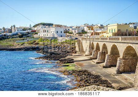 Bridge In  Leuca Di Santa Maria, Puglia, Italy