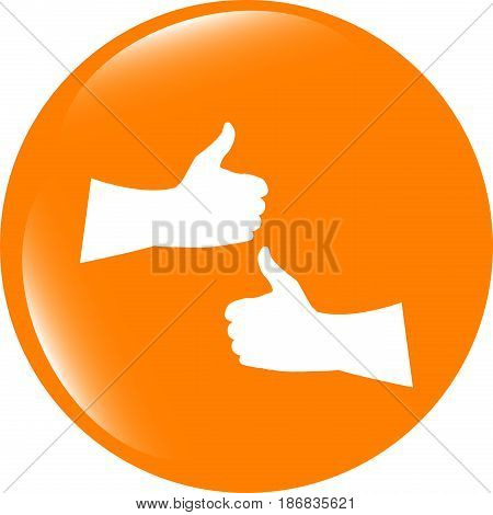 Like Hand Set On Icon, Web Button Isolated On White