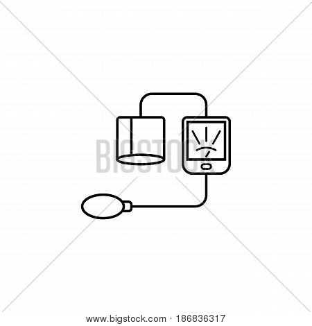Blood sphygmomanometer line icon,  Element of medical and Blood pressure sign, vector graphics, a linear pattern on a white background, eps 10.