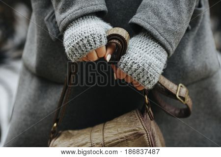 Hands Of A Girl Holding A Bag, Autumn, Spring