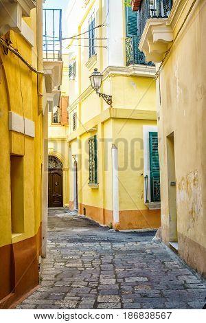 Charming street of Gallipoli , Puglia Italy