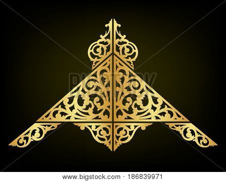 Oriental ornament abstract decorate vector and illustration