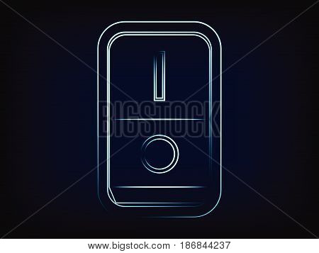 vector light switch with neon effect on mesh background