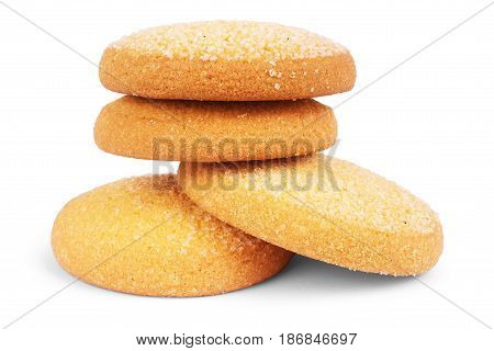 Oatmeal cookies on white background Palatable, Dainty, Teatime, Afters
