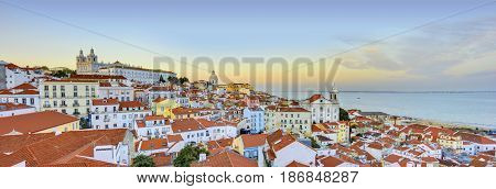 Lisbon Historical City Panorama Alfama architecture Portugal
