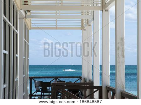 The place to dine on a beach with a perfect view (Freeport Grand Bahama Island).