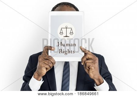 Law Judgment Justice Equality Concept