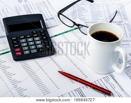 Finance calculator business planning data analysis analysing accounting budgeting