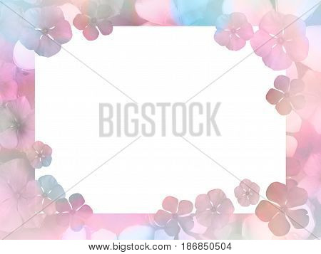 flower abstract background with copy space on white paper in the middle for greeting card concept. Vintage filter effect and soft style.