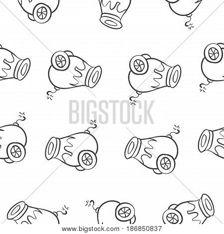 Collection stock of circus doodles vector illustration