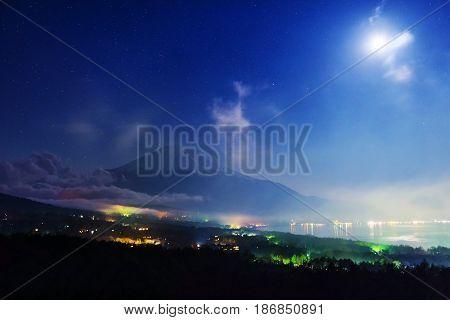 Mt. Fuji From Panaramadai At Night