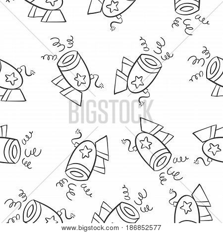 Collection stock of circus theme doodles vector illustration