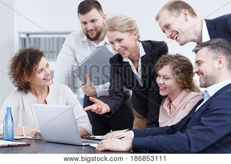 Team Workers Smiling