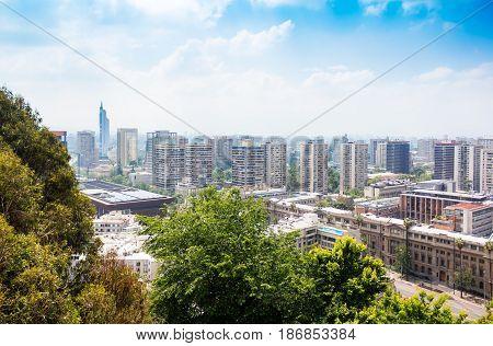 View Of The Downtown Of Santiago, Chile
