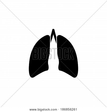 Lungs solid icon, organ and part of body, vector graphics, a filled pattern on a white background, eps 10.