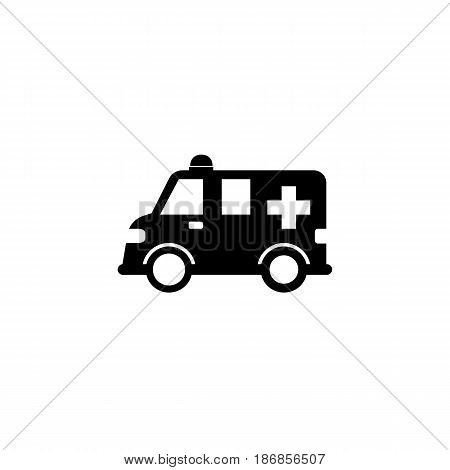 Ambulance car solid icon,  healtcare sign, vector graphics, a filled pattern on a white background, eps 10.