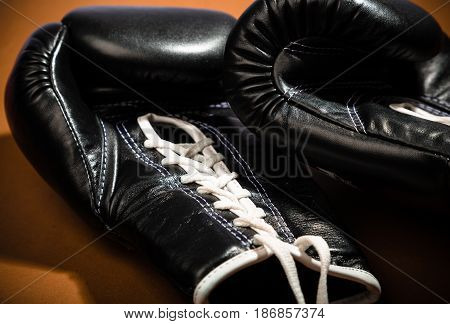 Boxing back glove sport punch box knock