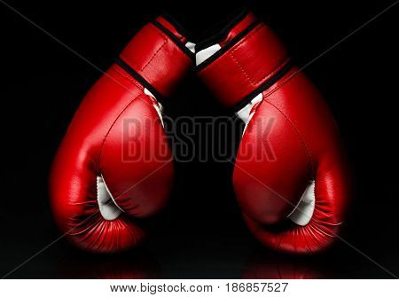 Sport boxing red glove protection punch knock