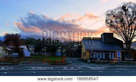 Yamanaka Urban City At Dusk