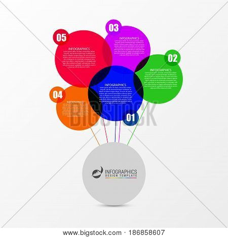 Speech bubble infographic template. Business concept. Vector illustration