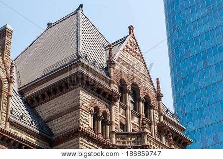 View on the downtown of Toronto City Ontario province Canada