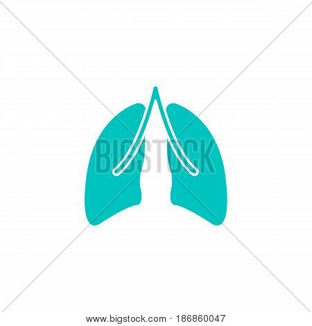 Lungs solid icon, organ and part of body, vector graphics, a colorful linear pattern on a white background, eps 10.