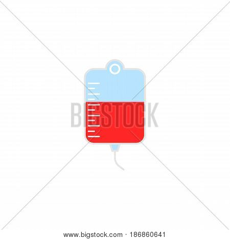 Drop counter with blood solid  icon, blood donor and medical element, vector graphics, a colorful linear pattern on a white background, eps 10.