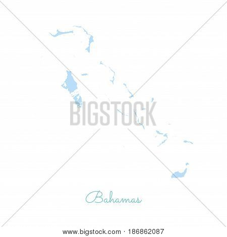 Bahamas Region Map: Colorful With White Outline. Detailed Map Of Bahamas Regions. Vector Illustratio