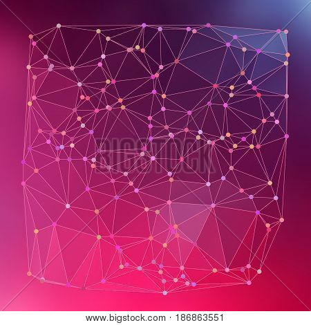 Modern Abstract Background Triangles 3D Effect Glowing Light94