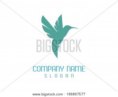 Green Hummingbird logo on a white background