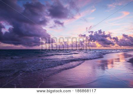 Colorful Coastal Landscape. Bavaro Beach