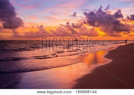 Colorful Sunrise Over Atlantic Ocean