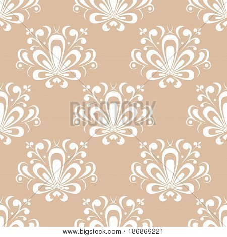 Colored flower pattern. Seamless background. Vector illustration