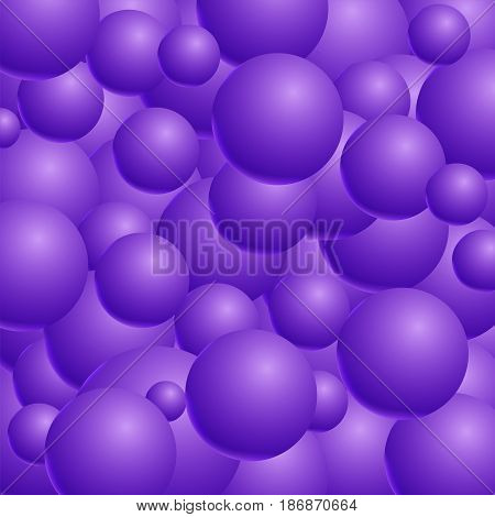 Abstract vector background with 3d balls. Spheric pattern. Vector illustration.