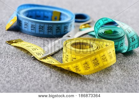 Measuring Tapes In Different Colors