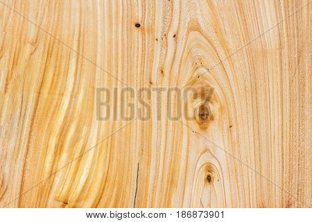 Close-up natural unpainted knotted wooden pattern of Hardwood texture. Background for design and decoration