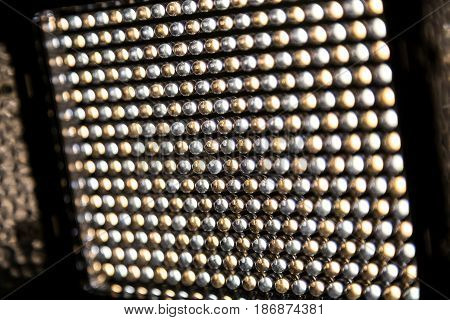 Lighting fixture close-up, consisting of 300 LEDs