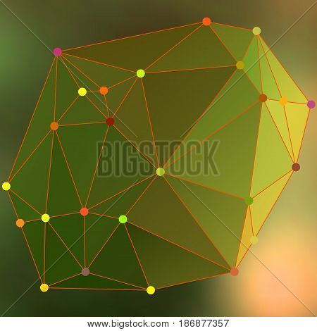 Modern Abstract Background Triangles 3D Effect Glowing Light101