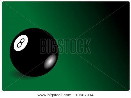 Vector illustration of a cue ball