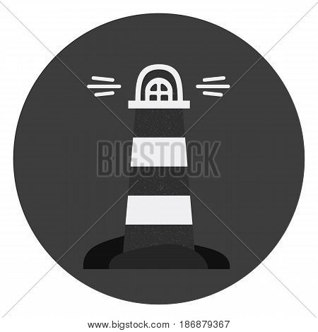 Vector lighthouse icon black and white lighthouse symbol