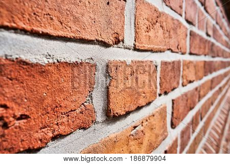 Wall made of bricks in the old Town of Magdeburg