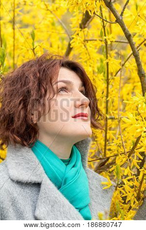 Woman In Spring Park