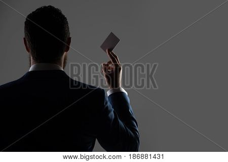 Office Man With Paper Credit Card, Business Ethics And Fashion