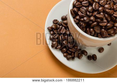 Cup coffee bean coffee cup hot drink mug caffeine saucer
