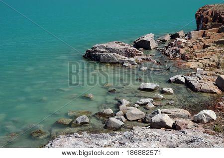 Balkhash lake, central Kazakhstan.Near Priozersk - former Soviet  anti-ballistic missile testing range Sary Shagan