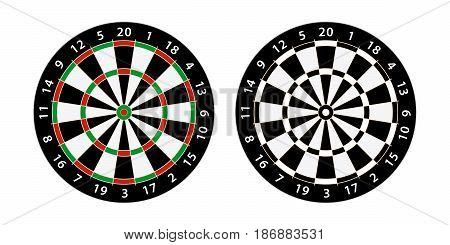 set of two darts board target for bar games