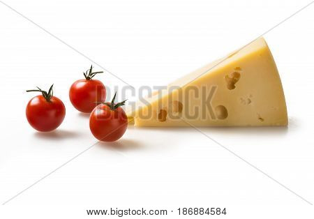 Cheese cheese piece cheese wedge emmental cheese swiss cheese isolated on white slice