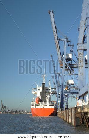 Ship At Docks
