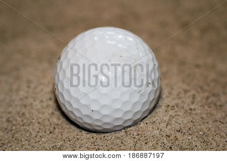 Golfball on the grass, green, golf, sport
